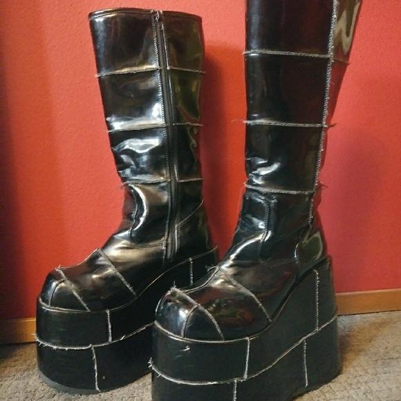 60c5c61bc96 demonia Shoes - Demonia size 12 platform patent stack boots